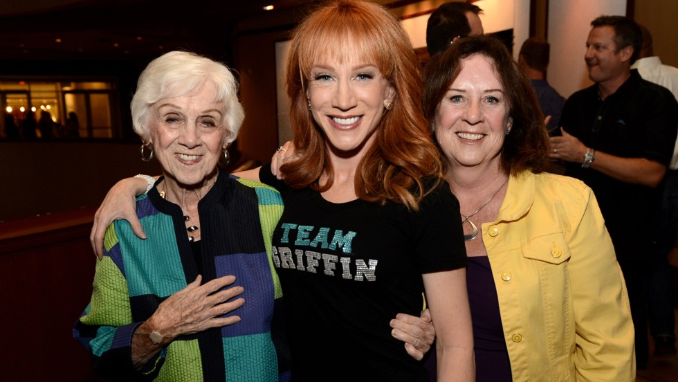 Kathy Griffin's mother, Maggie Griffin. Sister Joyce is at right.