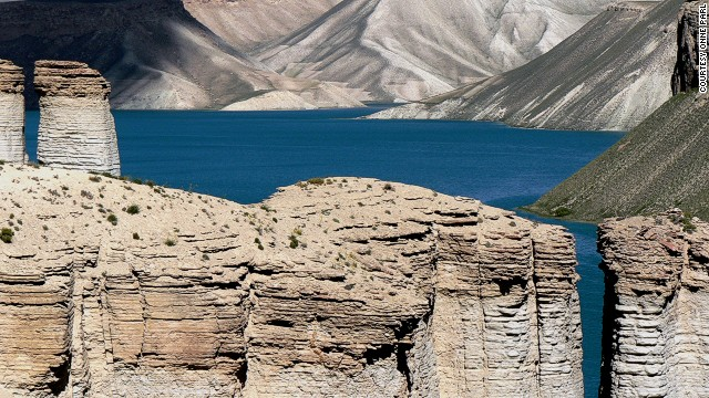 Many travelers seek out Afghanistan's mountain-rimmed lakes in the Hindu Kush.