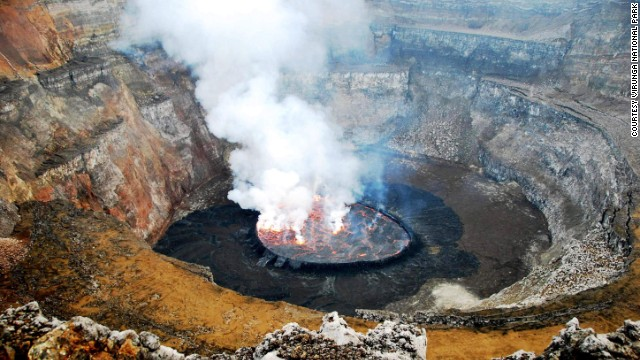 Virunga National Park contains the world's largest lava lake.