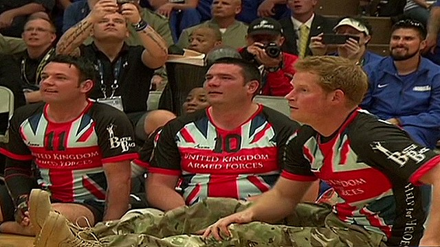 Prince Harry visits 'Warrior Games'