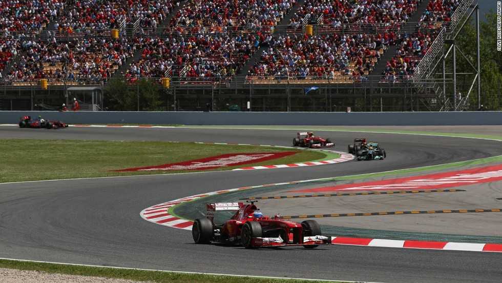 The 31-year-old finished more than nine seconds ahead of second -placed Kimi Raikkonen at the Circuit de Catalunya in Montmelo, near Barcelona.