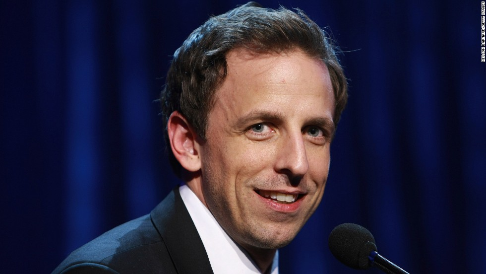 "Seth <a href=""http://www.cnn.com/2013/05/12/showbiz/seth-meyers-late-night/index.html"">Meyers took over NBC's ""Late Night"" show</a> in 2014 when current host Jimmy Fallon left for ""The Tonight Show."" Click through the gallery for highlights of Meyers' career:"