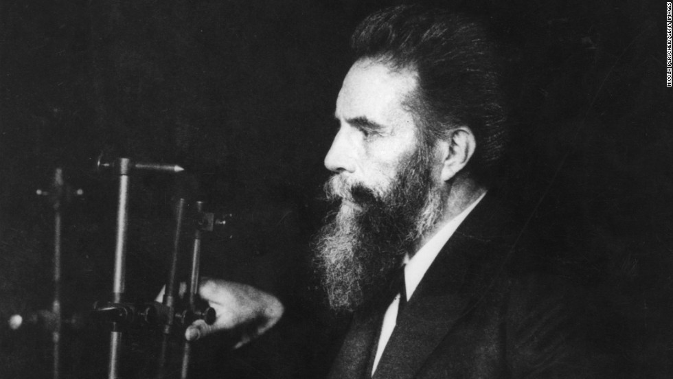 "<a href=""http://www.nobelprize.org/nobel_prizes/physics/laureates/1901/rontgen-bio.html"" target=""_blank"">Wilhelm Conrad Roentgen</a>, a German physicist, discovered the electromagnetic rays which he called <a href=""http://science.hq.nasa.gov/kids/imagers/ems/xrays.html"" target=""_blank"">X-rays</a> in 1895. He identified them by accident while experimenting with vacuum tubes. He died in 1923."