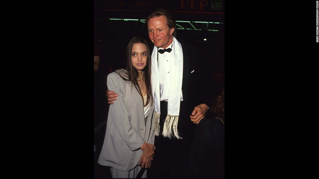 Jolie and Voight are seen in an undated photo.
