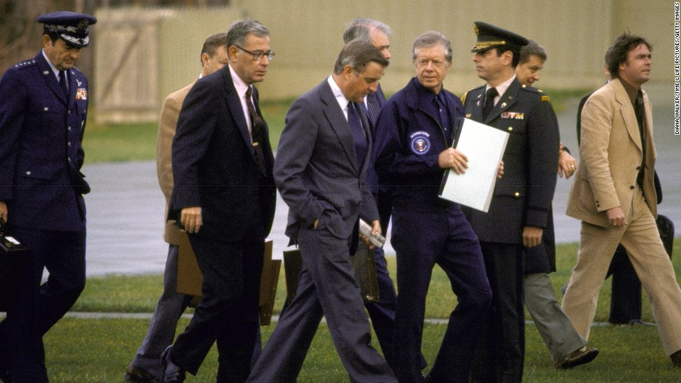 For 444 days -- ending in what would be the final year of his presidency -- President Jimmy Carter sought to gain the release of 52 Americans held hostage at the U.S. Embassy in Tehran, Iran.
