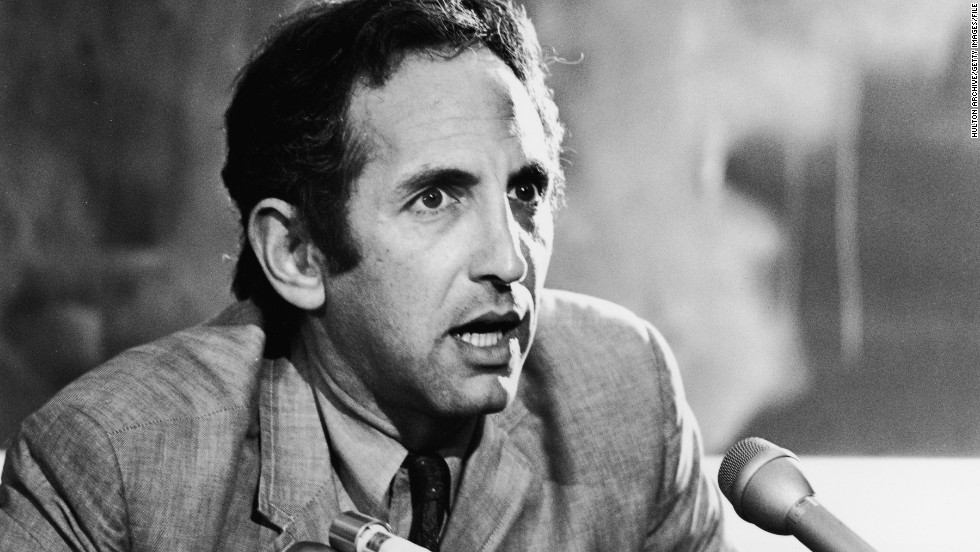 The Pentagon Papers, a top-secret document that detailed U.S. decisions leading up to the Vietnam War, were leaked to The New York Times by military analyst Daniel Ellsberg. The Nixon administration obtained an injunction to stop their publication.