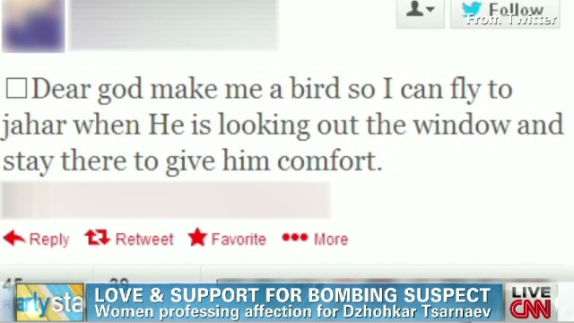 Love and support for bombing suspect