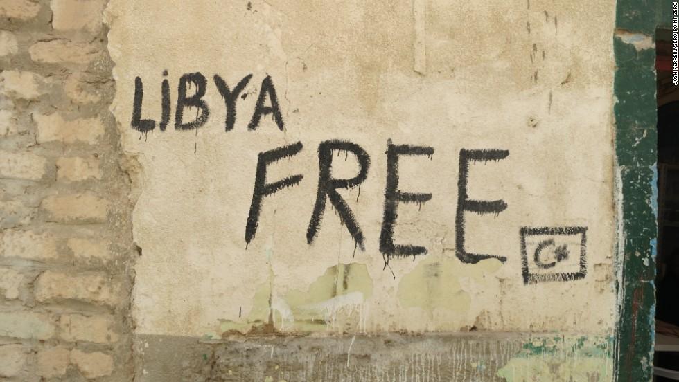 Graffiti in Old Town, Tripoli.
