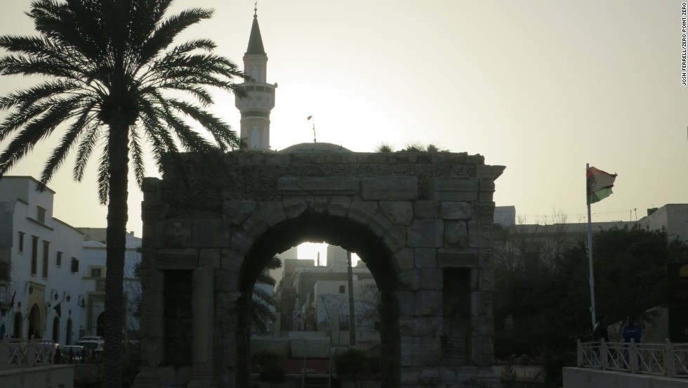 The Marcus Aurelius Arch in Old Town, Tripoli.