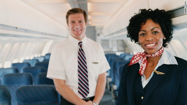 Customer satisfaction skyrockets when airline employees smile at passengers.