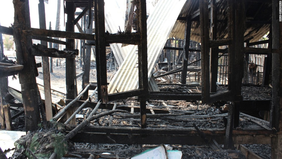 Myanmar's government has said it will replace all of the houses destroyed during the rioting.