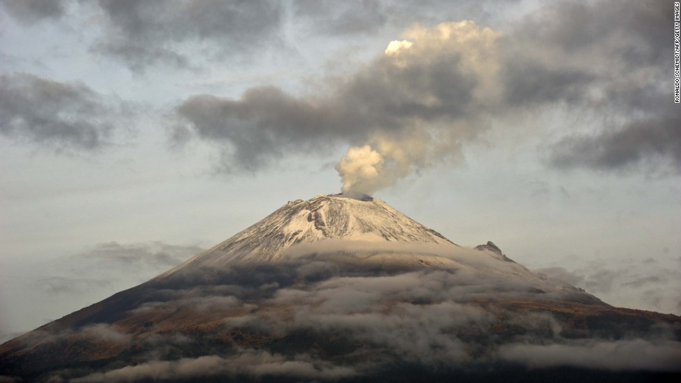 MAY 14 - POPOCATEPETL, MEXICO: Mexico's Popocatepetl volcano has been rumbling with explosions and expulsions of ash and gas, prompting authorities to bar people from getting close to a crater that is within sight of Mexico City and many of its 19 million residents.