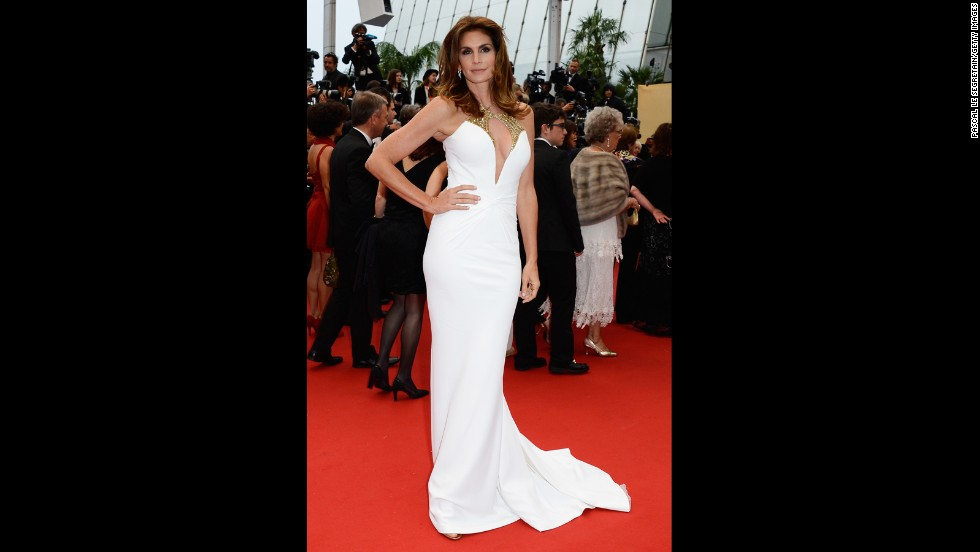 "Cindy Crawford at ""The Great Gatsby"" premiere."