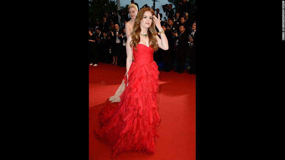 """Isla Fisher at """"The Great Gatsby"""" premiere."""