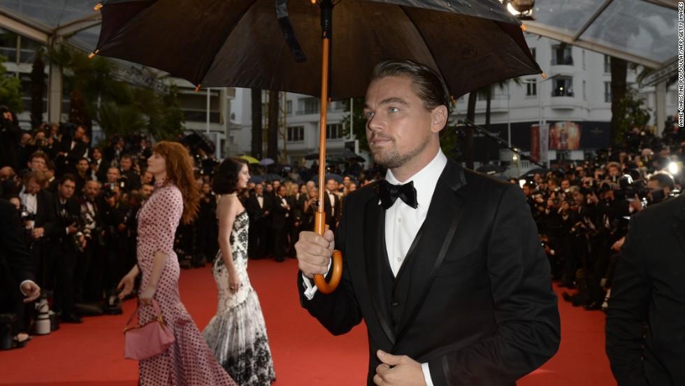 """Leonardo DiCaprio at """"The Great Gatsby"""" premiere."""