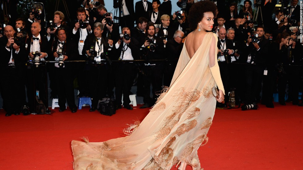 """Solange Knowles attends """"The Great Gatsby"""" premiere in Cannes, France, on May 15."""