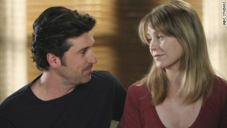Still of Patrick Dempsey and Ellen Pompeo in Grey's Anatomy