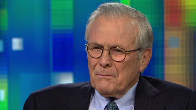 Rumsfeld: Scandals are the perfect storm