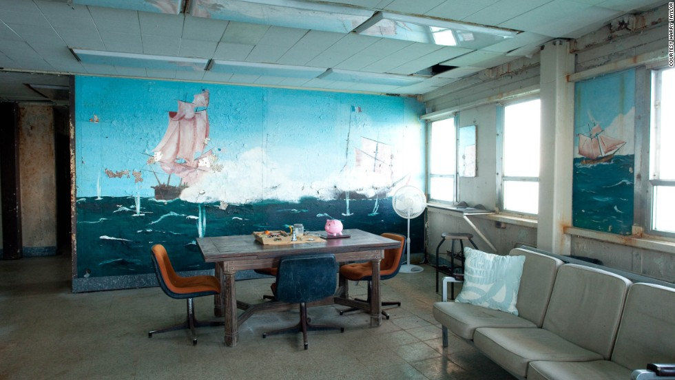 The Frying Pan Shoals Light Station still retains relics of its working past, but it now features Wi-Fi, a driving range and spectacular fishing.