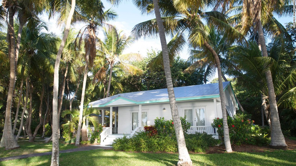 The Moorings Village & Spa in Isamorada, Florida, has 18 lovely guest cottages scattered throughout the estate.