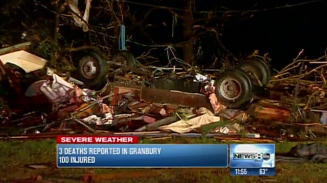 Tornadoes slam into Texas