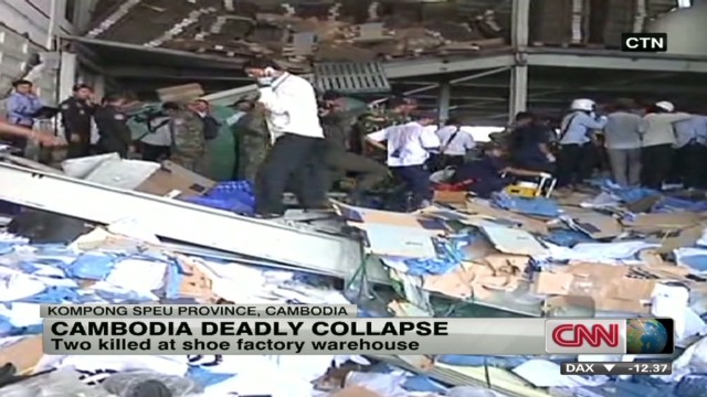 Deadly warehouse collapse in Cambodia