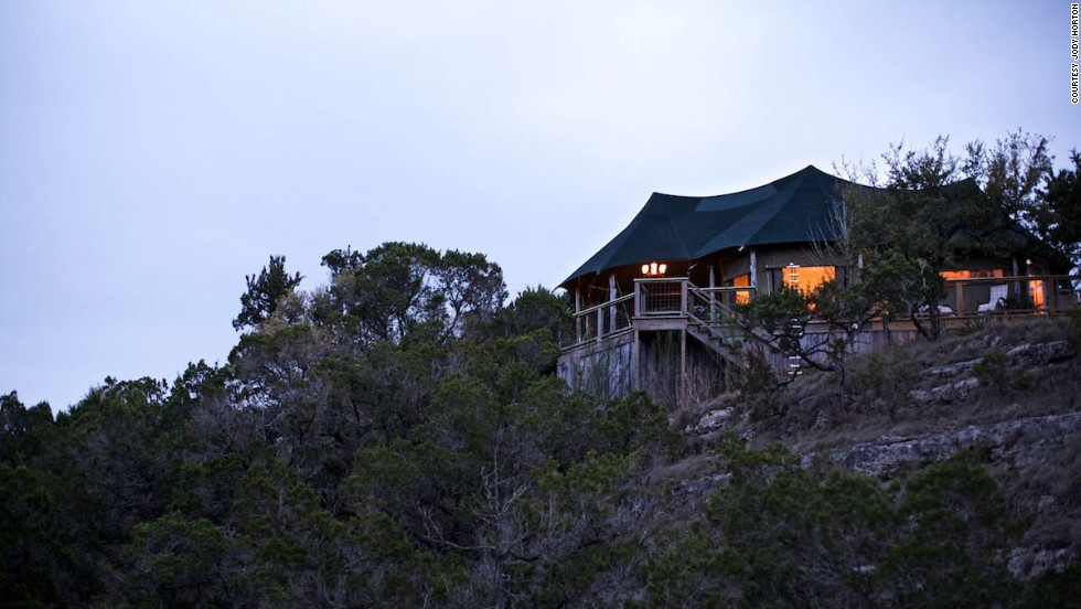 If you want to go on an African safari can't make the trip all the way to Africa, the single safari-style tent at Sinya on Lone Man Creek offers a luxurious alternative.