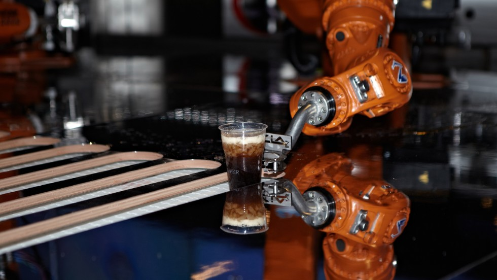 Drinks were seen as an accessible way to get people to interact with an industrial robot