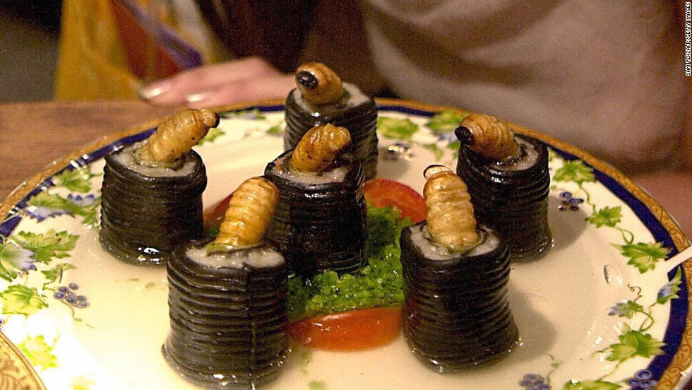 The annual Taipei Chinese Food Festival in August features all kinds of unusual dishes, including those made with different worm species. Local chefs reportedly like to use worms in their culinary endeavors for the subtle taste.