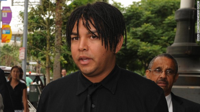 Taj Jackson, nephew of Michael Jackson, attends a probate hearing for Michael Jackson's estate in Los Angeles in 2009.