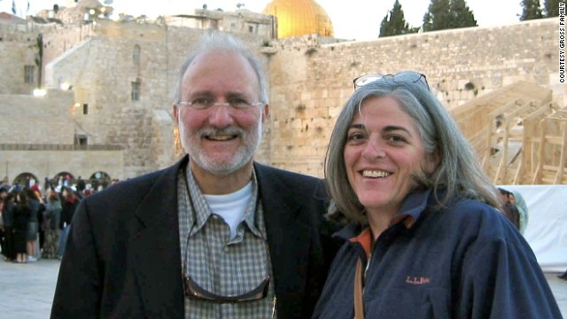 The results of the American doctors' visit were given to Alan Gross's wife, Judy, seen here, and the rest of his family.