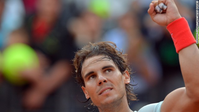 Rafael Nadal will play fellow Spaniard David Ferrer in the quarterfinals of the Rome Masters.