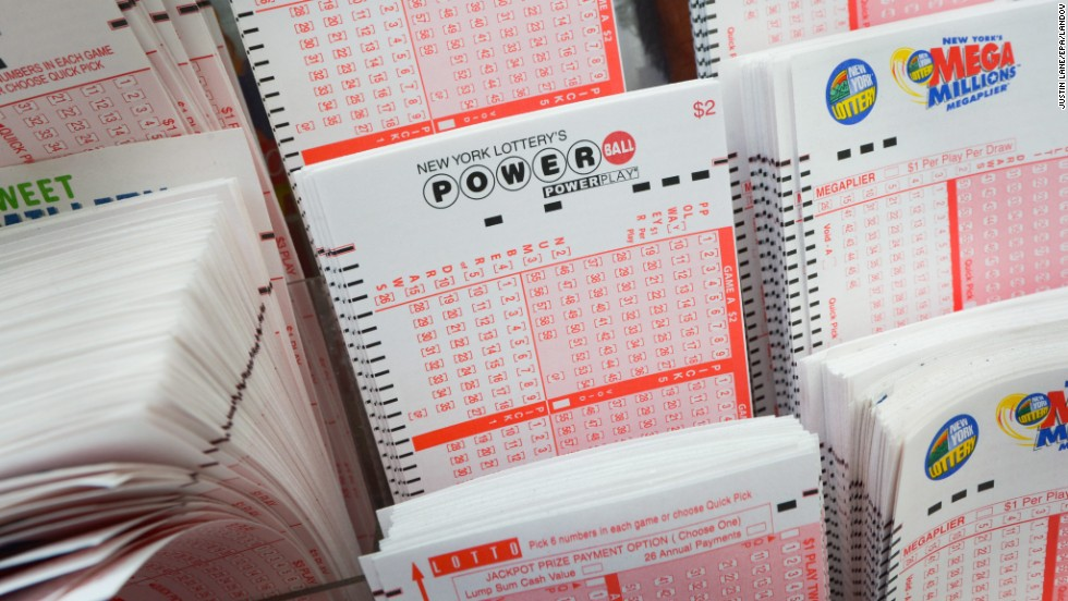 Lottery tickets are on display at a store in New York on Thursday, May 16. The Powerball jackpot marks the second-largest lottery jackpot in U.S. history. The largest was $656 million in the Mega Millions game in March 2012.