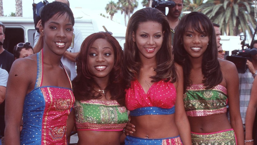 "In 1998, Beyonce, second from right, was known simply as another member of Destiny's Child, a four-member girl group who released a self-titled debut that year and had a breakthrough with the remix of their single ""No, No, No, No."""