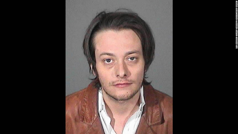 Actor Edward Furlong was arrested again on May 17, 2013, after allegedly violating a protective order filed against him by an ex-girlfriend. Furlong is seen here in a police booking photo after his arrest for alleged domestic violence, the arrest which resulted in the protective order, on January 13, 2013, in Los Angeles.