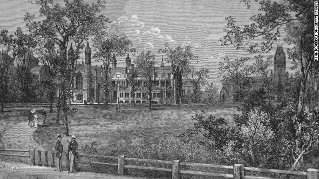 A 1760 engraving shows the exterior of Harvard College in Cambridge, Massachusetts, where Samuel Williams taught.