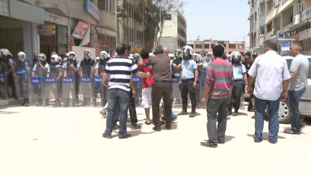Suicide bombings spark violent protest