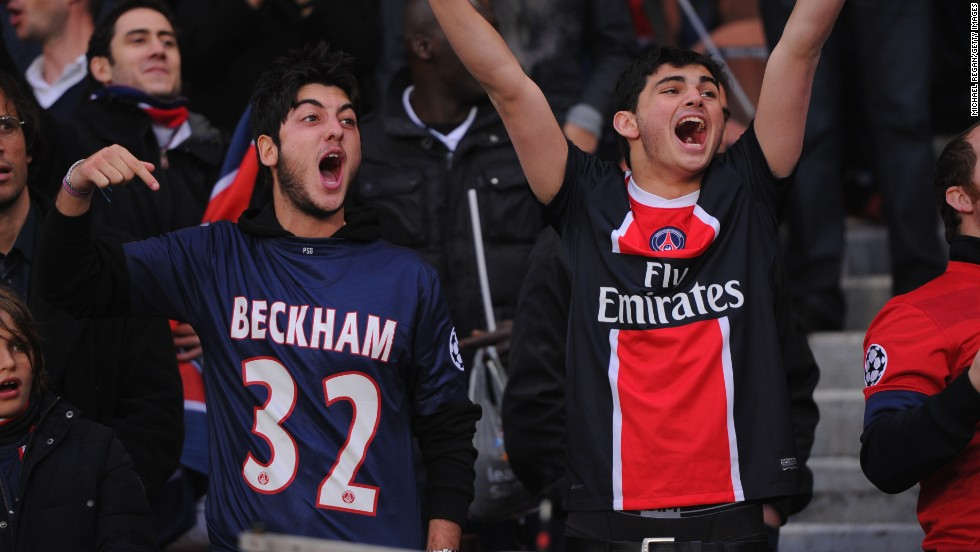 PSG fans have taken Beckham and his No.32 shirt to their hearts during his spell at the new French champions.