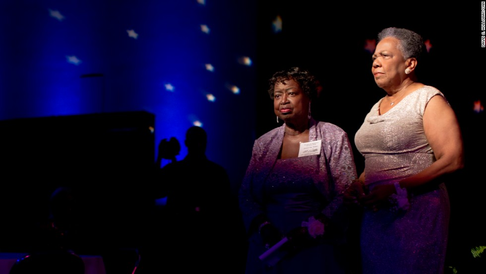 """The prom was a celebration of what the Class of 1963 had endured and survived over the last 50 years. """"As we get older, everything behind us looks greater,"""" Earnestine Thomas said."""