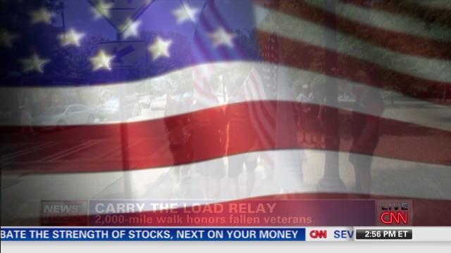 2,000-mile walk honors fallen veterans