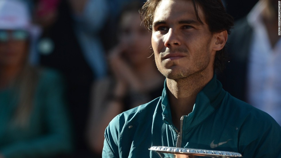 Rafael Nadal savors his sixth title of his remarkable comeback and 24th Masters crown after thrashing Roger Federer ni Rome.