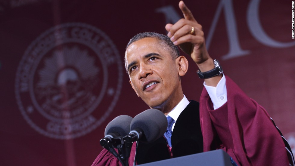 Every spring, college commencement addresses offer a chance to hear life lessons from a who's who of politicians, scientists, tech leaders and artists. So, who's speaking this year? President Barack Obama delivers the commencement address at Morehouse College on May 19 in Atlanta. He gave the commencement address at the Ohio State University on May 5 and will be doing the same at the U.S. Naval Academy in Annapolis, Maryland, on May 24. Click through the gallery to see more of this year's speakers.