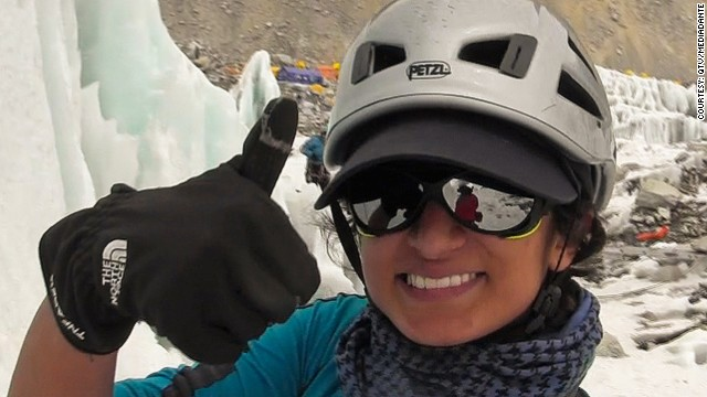 "Raha Moharrak, part of the ""Arabs With Altitude"" expedition, became the first Saudi woman to reach the summit of Everest."