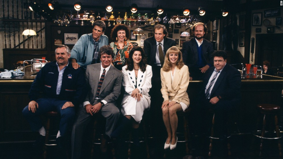 "Having the characters just hang out at the ""Cheers"" bar for one last scene (after Sam nearly left them all for Diane) seemed a very appropriate way for ""Cheers"" to say goodbye. And when a customer knocked on the door, Sam Malone -- in the darkened bar -- said, ""Sorry, we're closed."""