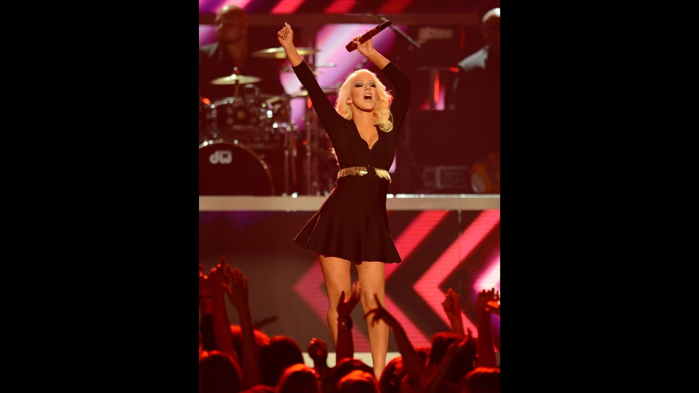 Christina Aguilera performs.