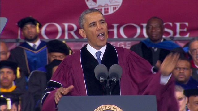 Obama addresses Morehouse graduates