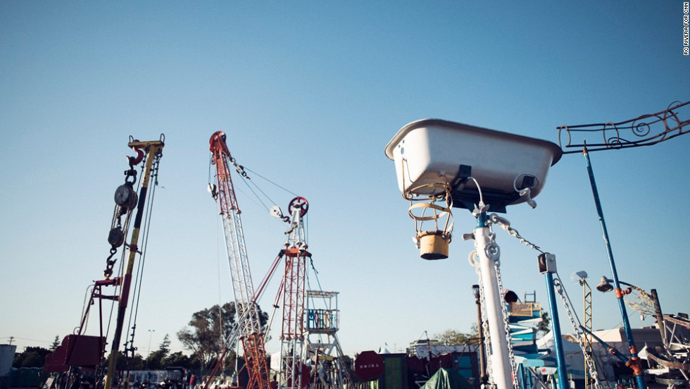 "The <a href=""http://lifesizemousetrap.org/"" target=""_blank"">world's largest mousetrap</a> is a traveling Rube Goldberg device that teaches Faire-goers about physics, engineering and the coolest way to smash a car."