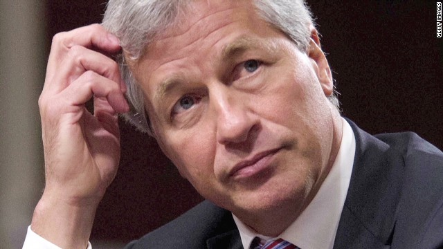 Pay of top bankers, including JPMorgan's Jamie Dimon, dropped an average of 10% last year, according to the Financial Times.