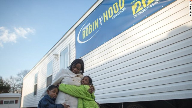 Housing continues to be one of the largest and most critical areas of need for Sandy victims.  The Robin Hood  Relief Fund provided $1 million for 17 new homes for low-income, displaced residents of Monmouth County, New Jersey.