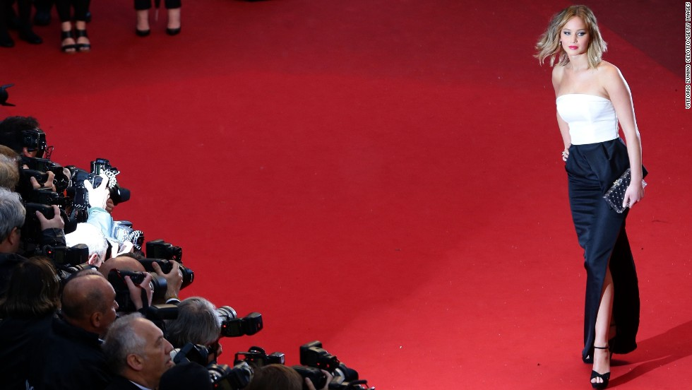 """Jennifer Lawrence attends the May 18 Cannes screening of """"Jimmy P. Psychotherapy of a Plains Indian."""""""